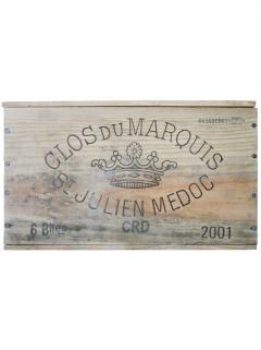 Clos du Marquis 2001 Caisse bois d'origine de 6 bouteilles (6x75cl)