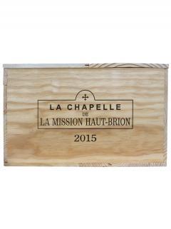 La Chapelle de la Mission Haut-Brion 2015 Caisse bois d'origine de 6 magnums (6x150cl)