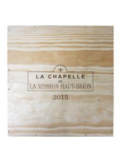 La Chapelle de la Mission Haut-Brion 2015 Caisse bois d'origine de 3 magnums (3x150cl)