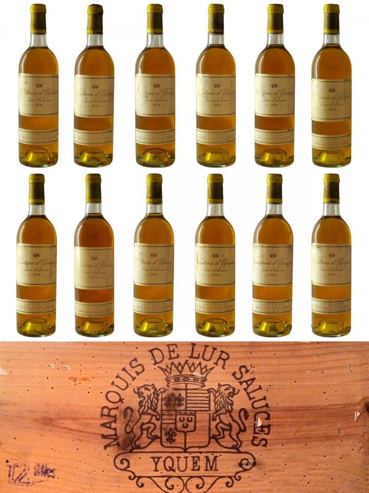 Château d'Yquem 1976 Caisse bois d'origine de 12 bouteilles (12x75cl)