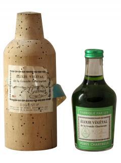 Chartreuse Elixir Végétal de la Grande Chartreuse Pères Chartreux Années 1950 Mignonette (10cl)