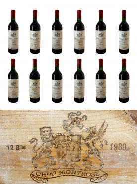Château Montrose 1989 Caisse bois d'origine de 12 bouteilles (12x75cl)
