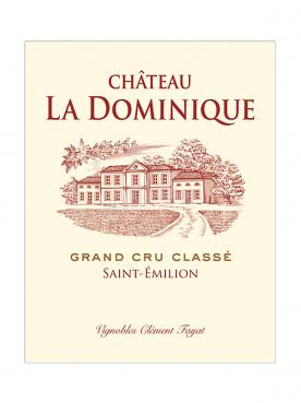 Château La Dominique 2020 Caisse bois d'origine d'un double magnum (1x300cl)