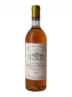Château Rabaud-Promis 1978 Bouteille (75cl)