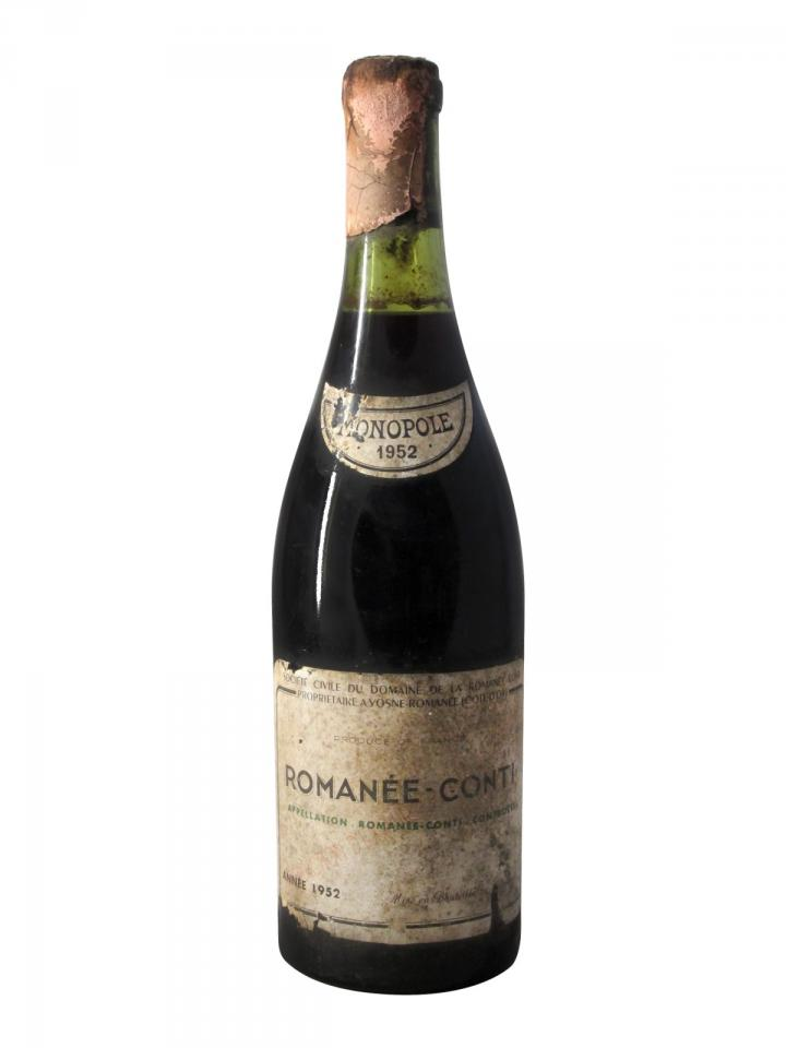 Romanée-Conti Grand Cru Domaine de la Romanée-Conti 1952 Bouteille (75cl)