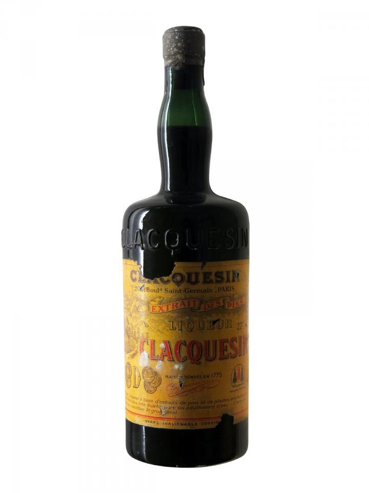 Clacquesin Extrait des Pins Inconnu Années 1930-1940 Bouteille (100cl)
