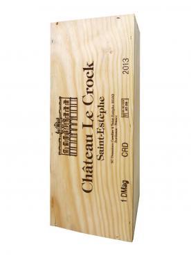 Château Le Crock 2013 Caisse bois d'origine d'un double magnum (1x300cl)