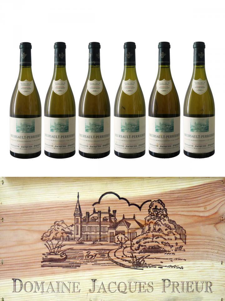 Meursault 1er Cru Perrières Domaine Jacques Prieur  2001 Caisse bois d'origine de 6 bouteilles (6x75cl)