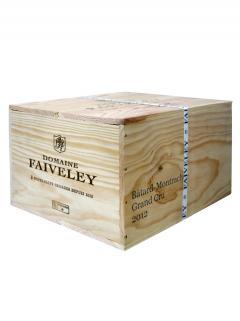 Bâtard-Montrachet Grand Cru Domaine Faiveley 2012 Caisse bois d'origine de 6 bouteilles (6x75cl)