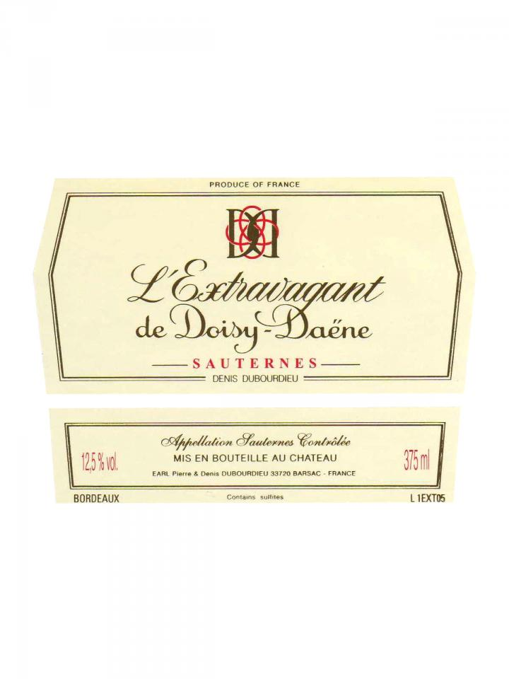 Château Doisy-Daëne L'Extravagant de Doisy-Daene 2009 Caisse bois d'origine de 12 demi bouteilles (12x37.5cl)